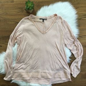 WHBM Blush Pink Long Sleeve Top